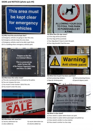 SIGNS and NOTICES (photo quiz 04)