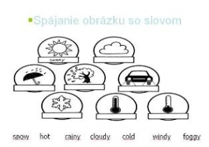 Weather vocabulary - spoj slova s obrázkem